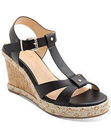 Isla T-Strap Espadrille Wedge Sandals