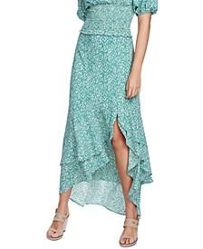 Folk Floral-Print Skirt