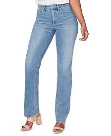 Tummy-Control Straight-Leg Jeans