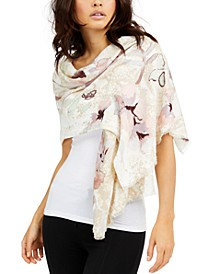 INC Snake-Embossed Floral Pashmina, Created For Macy's