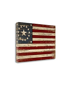 American Flag by Jennifer Pugh Giclee Print on Gallery Wrap Canvas