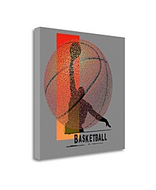 Basketball by Jim Baldwin Giclee Print on Gallery Wrap Canvas