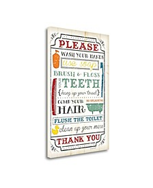 Bathroom Rules by Jennifer Pugh Giclee Print on Gallery Wrap Canvas