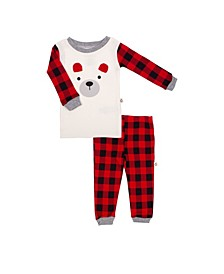 Hot Cocoa Baby Boys and Girls 2 Piece Pajama Set