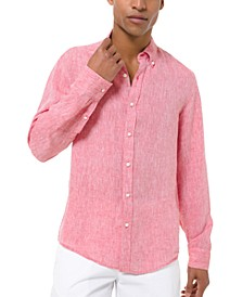 Men's Slim-Fit Linen Shirt