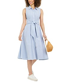 Mommy & Me Cotton Seersucker Shirtdress, Created for Macy's