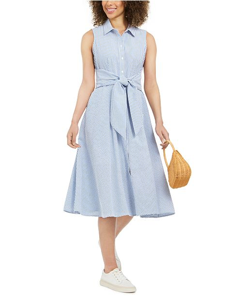 Charter Club Mommy & Me Cotton Seersucker Shirtdress, In Regular and Petite, Created for Macy's