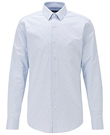 BOSS Men's Isko Light Pastel Blue Shirt