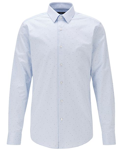 Hugo Boss BOSS Men's Isko Light Pastel Blue Shirt