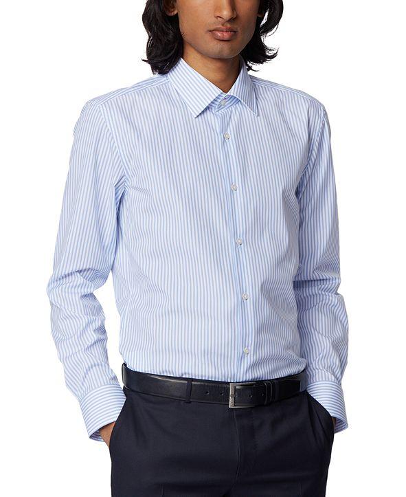 Hugo Boss BOSS Men's Jango Light Pastel Blue Dress Shirt