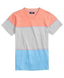 Big Boys Astor Snow Blocked Stripe T-Shirt