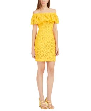 Trina Trina Turk Off-The-Shoulder Lace Dress