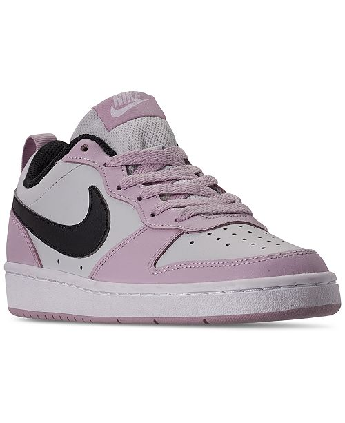 Nike Big Kids Court Borough Low 2 Casual Sneakers from ...