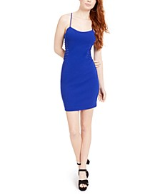 Sleeveless Illusion-Trim Bodycon Dress