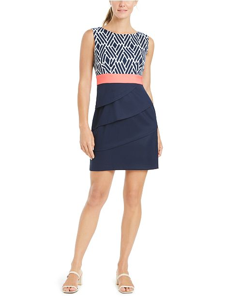 Connected Petite Tiered Sheath Dress