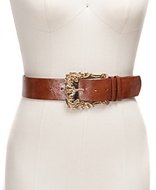 INC Oversized Ornate Buckle Panel Belt
