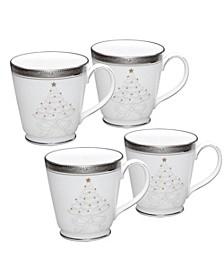 Crestwood Platinum Set/4 Holiday Mug