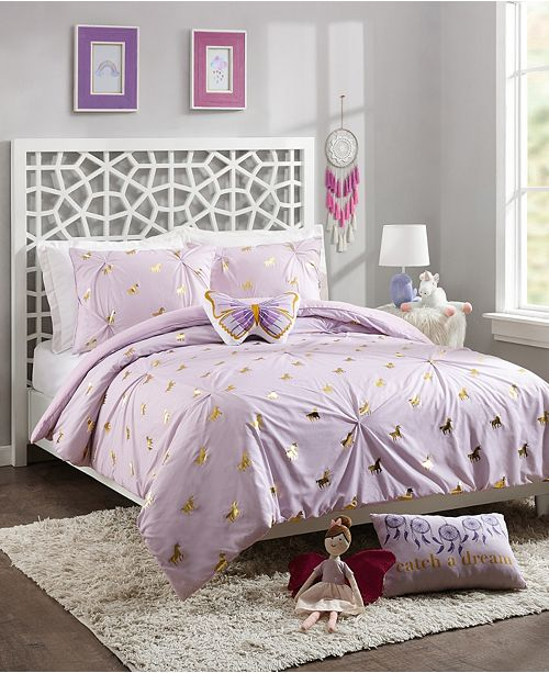 Jessica Simpson Fiona Unicorn Full/Queen 4-Piece Comforter Set