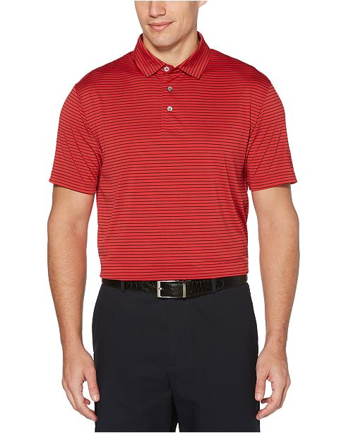 PGA TOUR Men's Striped Golf Polo