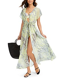 St. Tropez Tie-Front Maxi Cover-Up