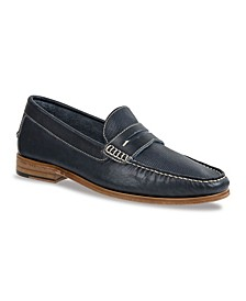 Men's Moc Toe Penny Strap with Textured Vamp