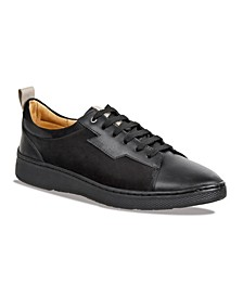 Men's Plain Toe Leather and Suede Sneaker