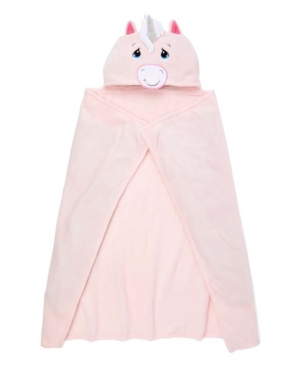 Precious Moments Baby Girls Hooded Blanket In Pink