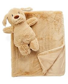 Baby Boys and Girls Plush Blanket and Toy Set
