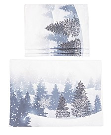 Winter Wonderland Double Layer Christmas Placemats - Set of 4