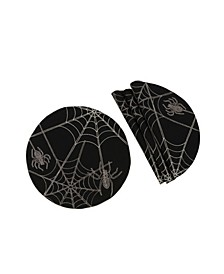 Halloween Spider Web Double Layer Placemats - Set of 4