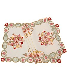 Primrose Embroidered Cutwork Placemats - Set of 4