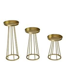 Stratton Home Decor Metal Soho Candlestick, Set of 3