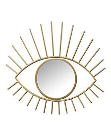 Stratton Home Decor Metal Eye Wall Mirror