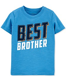 Toddler Boys Best Brother-Print Cotton T-Shirt