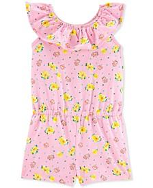 Toddler Girls Pink Floral-Print Romper