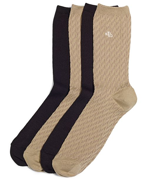Polo Ralph Lauren Women's Cable Supersoft Trouser 2 Pack Socks