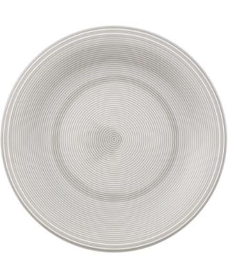 Color Loop Stone Grey Salad Plate