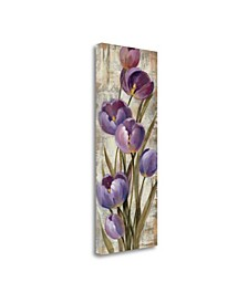 Royal Purple Tulips II by Silvia Vassileva Giclee on Gallery Wrap Canvas