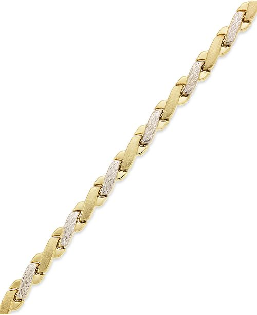 10k Gold And White Bracelet Two Tone X