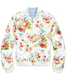Big Girls Reversible Oxford Jacket