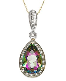 Mystic Topaz (3-1/3 ct. t.w.) and Diamond Accent Pendant Necklace in 14k Gold and 14k White Gold