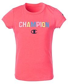 Little Girls Collegiate Ombré Logo T-Shirt