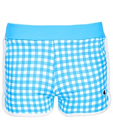Little Girls Gingham French Terry Shorts