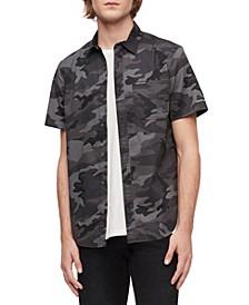 Calvin Klein Men's Short Sleeve Camo Print Shirt