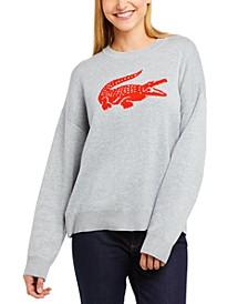 Women's Classic Fit Jacquard Logo Sweater