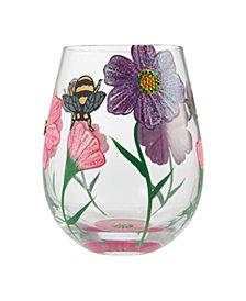 Enesco LOLITA My Drinking Garden Stemless Wine Glass