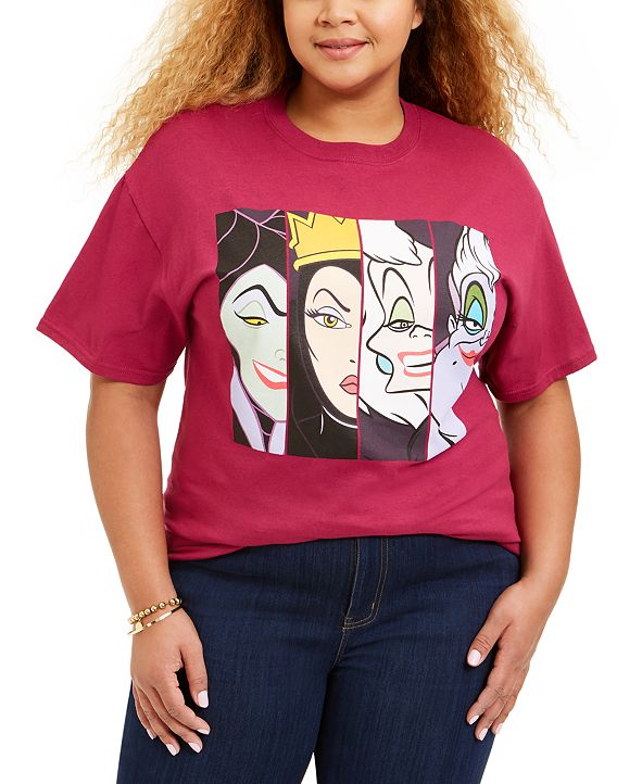 Love Tribe Trendy Plus Size Disney Villains T-Shirt