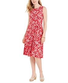 Sleeveless Printed A-Line Dress, Created for Macy's