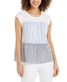 Cotton Tiered Printed Top, Created for Macy's