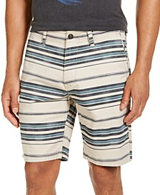 "Men's Striped Twill 9"" Shorts"